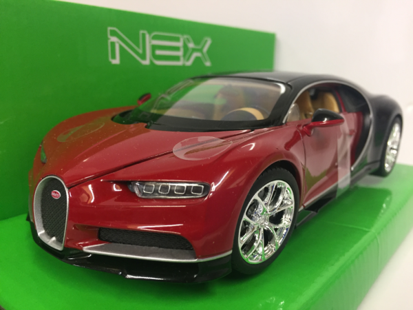 Bugatti Chiron Red 2016 - Welly 1:24