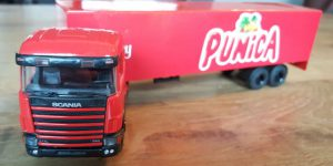 Punica Scania Truck met trailer - Lion Toys 1:50