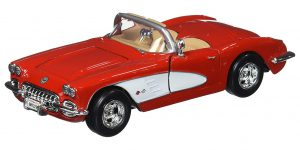 1959 Corvette 1:24 (American Classic, Rood)
