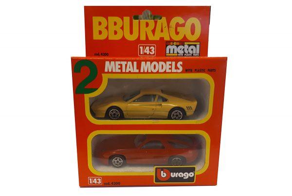 2 Metal Models (Ferrari & Porsche) - Bburago 1:43 / Die Cast