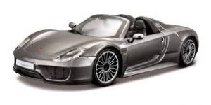 Porsche 918 Spyder 1:24 (Cabrio, Grijs)