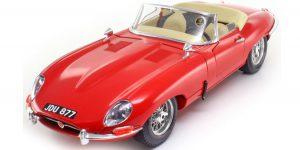 Jaguar E Cabriolet 1961 (R|ood) - Bburago 1:18