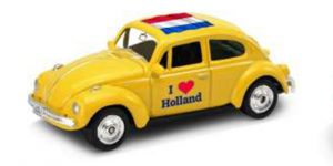 1963 Volkswagen Kever (Geel) / I love Holland - Welly 1:34
