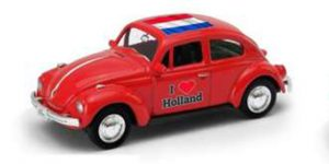 1963 Volkswagen Kever (Rood) / I love Holland - Welly 1:34