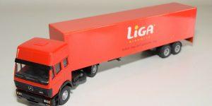 Liga DAF Truck met trailer - Lion Toys 1:50