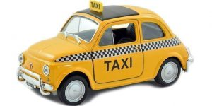 Fiat Nuova 500 Taxi - Welly 1:24
