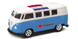 1963 Volkswagen T1 Bus / I love Holland (Blauw) - Welly 1:34