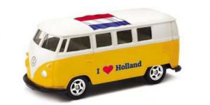 1963 Volkswagen T1 Bus / I love Holland (Geel) - Welly 1:34