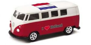 1963 Volkswagen T1 Bus / I love Holland (Rood) - Welly 1:34