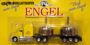 Vrachtauto Engel (geel) met trailer - 1:87