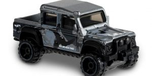 15 Land Rover Defender Double Cab (Grijs) - Hot Wheels 1:64