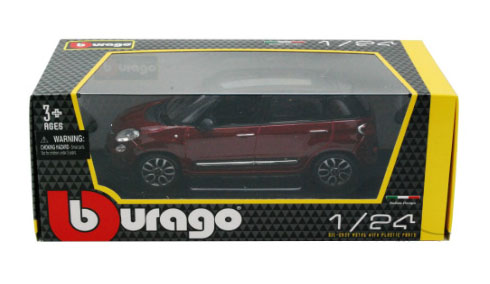 Fiat 500L Rood - Bburago 1:24