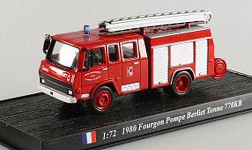Fourgon Pompe Berliet Tonne 770KB 1980 Frankrijk - del Prado 1:72