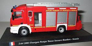 Scania Fourgon Pompe Tonne Secours Routiers 2003 - del Prado 1:64
