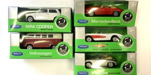 5 model auto's (speciale aanbieding 2) - Welly 1:60