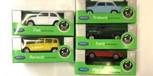 5 model auto's (speciale aanbieding 1) - Welly 1:60