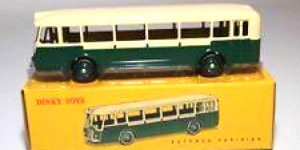 Somua Autobus Parisien, creme/green - Dinky Toys 1:43