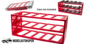 Plastic Display (Rood) - Voor 15 modelauto's schaal 1:43