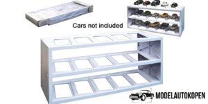Plastic Display (Wit) - Voor 15 modelauto's schaal 1:43