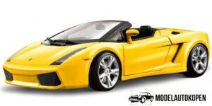 Lamborghini Gallardo Spyder (Geel) - Bburago 1:18