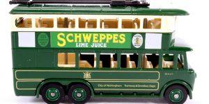 1928 Karrier EG Trolley Bus Schweppes Lime Juice - LLedo 1:43