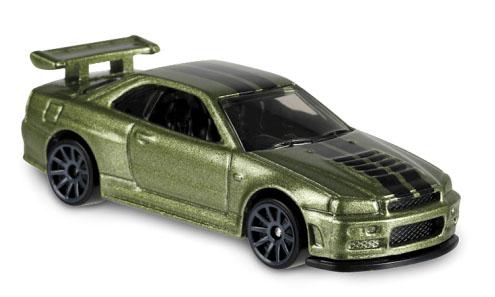 Nissan Skyline GT-R (BNR34) - Hot Wheels 1:64