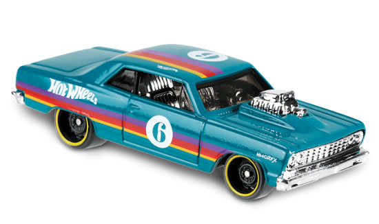 54 Chevy Chevelle 55 (Groen) - Hot Wheels 1:64