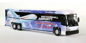 Van Hool MCI D4505 Motorcoach MTA Airport - IR 1:87