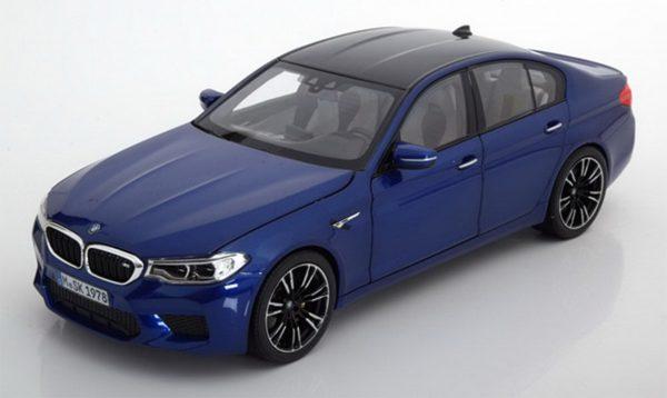 BMW M5 Blauw - BMW Collection 1:18