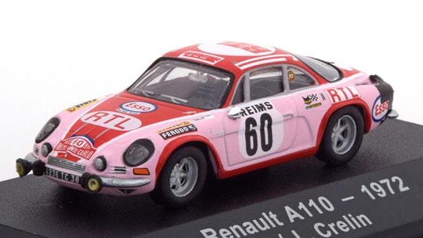 Alpine Renault A110 No.60 1972 - Atlas 1:43