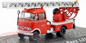 Mercedes-Benz L319 Brandweerwagen met ladder 1961 - Atlas 1:72