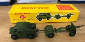 Dinky Toys 697 25-Pounder Field Gun Set