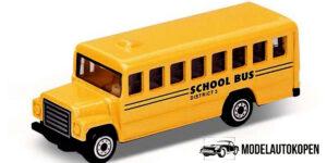 School Bus Geel - Welly 1:64