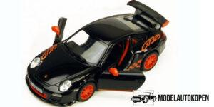 Porsche 911 GT3 RS Zwart - Kinsmart 1:36