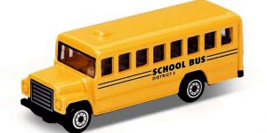 School Bus Geel - Welly 1:64
