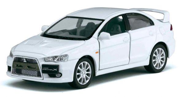 2008 Mitsubishi Lancer Evolution X Wit - Kinsmart 1:36