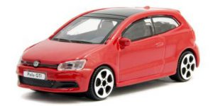 Volkswagen Polo GTI Mark 5 (Rood) - Bburago 1:43