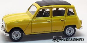 Renault 4 N02 geel - Welly 1:64