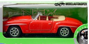 Mercedes-Benz 190SL Cabrio 1955 rood - Welly 1:64