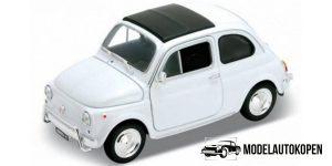 Fiat 500 wit - Welly 1:64
