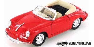 Porsche 356B rood - Welly 1:24