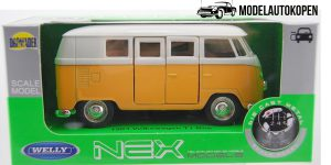 1963 Volkswagen T1 Bus (oranje) - Welly 1:34