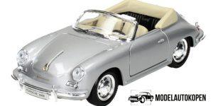 Porsche 356B zilver - Welly 1:24