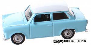 Trabant blauw - Welly 1:64