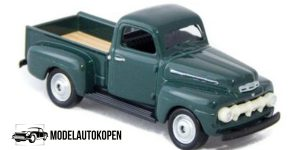 1951 Ford F1 Pick Up Truck groen - Welly 1:64