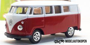 Volkswagen 1962 T1 wit - Welly 1:64