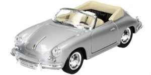 Porsche 356B zilver - Welly 1:24