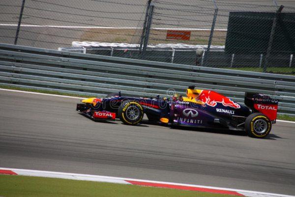 Sebastian Vettel Formule1 racewagen