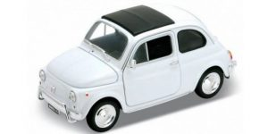 Fiat 500 wit - Welly 1:64