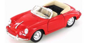 Porsche 356B rood - Welly 1:24